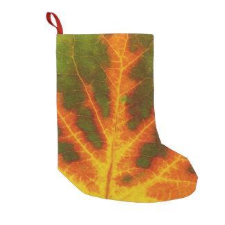 Meia De Natal Pequena Folha alaranjada & amarela verde #1 de Aspen