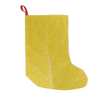 Meia De Natal Pequena Folha amarela #5 de Aspen