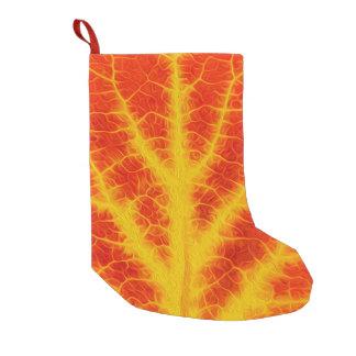 Meia De Natal Pequena Folha vermelha & amarela #10 de Aspen