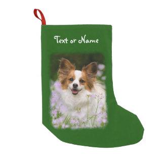 Meia De Natal Pequena Foto bonito do animal de estimação do cão de