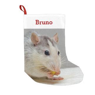 Meia De Natal Pequena Foto & nome do amante do rato do animal de