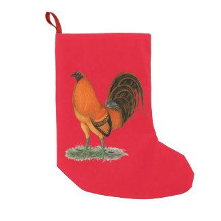 Meia De Natal Pequena Galo do vermelho do gengibre do Gamecock