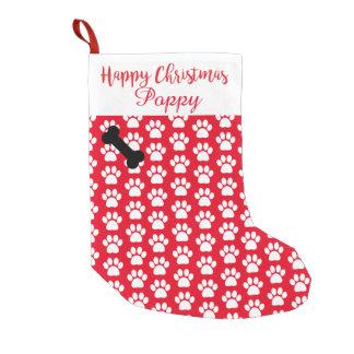 Meia De Natal Pequena Impressão conhecido da pata do Natal feliz do meu