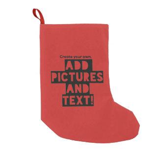 Meia De Natal Pequena Impressão em uma MEIA do NATAL - adicione fotos e