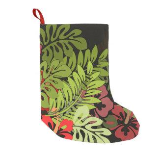 Meia De Natal Pequena Impressão floral da arte de Hula do Hawaiian Aloha