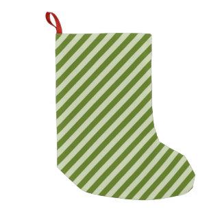 Meia De Natal Pequena Listras verdes