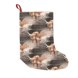 Meia De Natal Pequena Longhorns