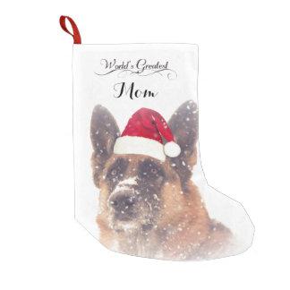 Meia De Natal Pequena Meia adorável do Natal do german shepherd