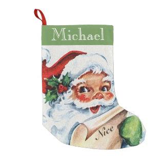 Meia De Natal Pequena Meia agradável do Natal da lista do papai noel