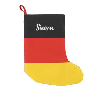 Meia De Natal Pequena Meia alemão personalizada do Natal da bandeira