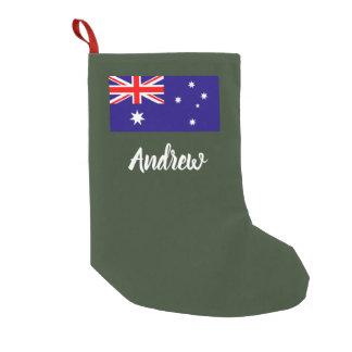 Meia De Natal Pequena Meia australiana personalizada do Natal da