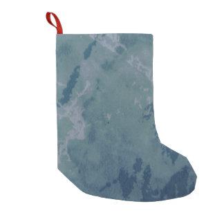 Meia De Natal Pequena meia azul e verde