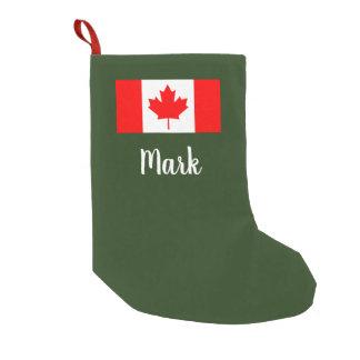 Meia De Natal Pequena Meia canadense personalizada do Natal da bandeira