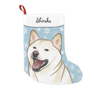 Meia De Natal Pequena Meia de creme de Shiba Inu do Feliz Natal