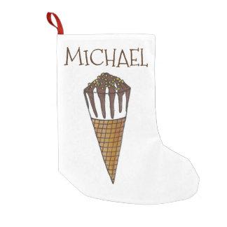 Meia De Natal Pequena Meia de creme personalizada do cone de Vanilla Ice