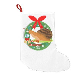 Meia De Natal Pequena meia do caracol do Feliz Natal