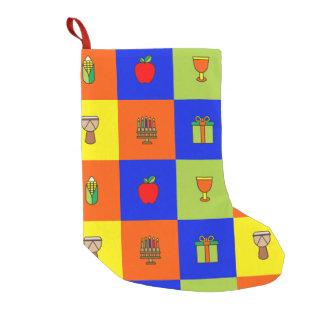 Meia De Natal Pequena meia do colorblock de kwanzaa