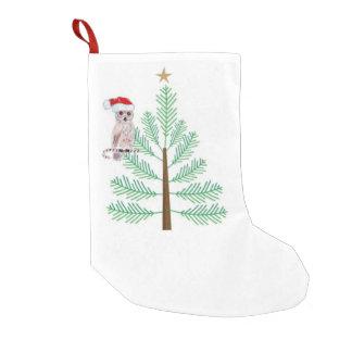 Meia De Natal Pequena Meia do Natal da árvore da coruja e de Natal