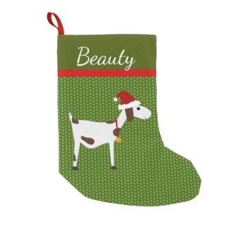 Meia De Natal Pequena Meia do Natal da cabra do animal de estimação