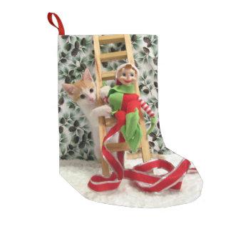 Meia De Natal Pequena Meia do Natal de Annie - gato, gatinho, salvamento