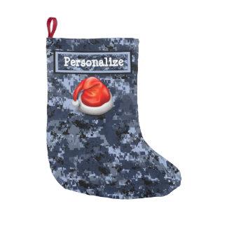 Meia De Natal Pequena Meia do Natal de Digitas Camo do marinho com
