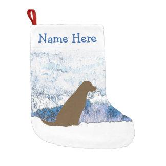 Meia De Natal Pequena Meia do Natal de Labrador do chocolate