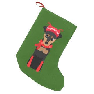 Meia De Natal Pequena Meia do Natal do Pinscher diminuto do feriado