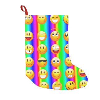 Meia De Natal Pequena meia do Natal do xmas do emoji do arco-íris