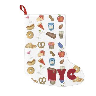 Meia De Natal Pequena Meia do Natal dos alimentos da Nova Iorque de NYC