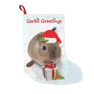 Meia De Natal Pequena Meia do Natal dos cumprimentos do Gerbil