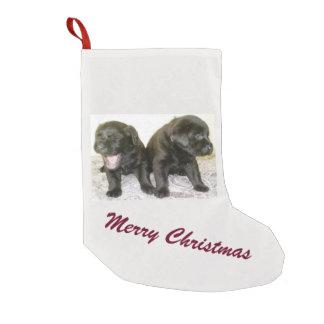Meia De Natal Pequena Meia do Natal dos filhotes de cachorro de Labrador