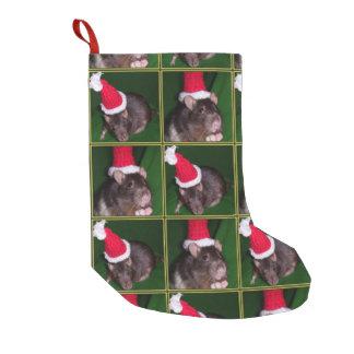 Meia De Natal Pequena Meia do rato do papai noel
