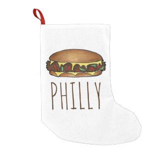 Meia De Natal Pequena Meia do sanduíche de bife do queijo de Philly