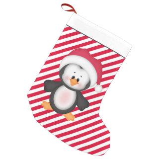 Meia De Natal Pequena Meia dos desenhos animados do feriado do pinguim