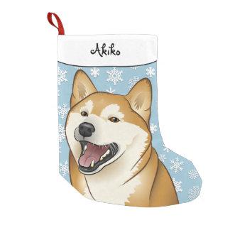 Meia De Natal Pequena Meia feliz de Shiba Inu do Feliz Natal