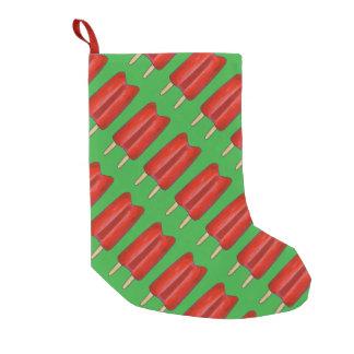 Meia De Natal Pequena Meia gêmea verde vermelha do Natal dos Popsicles