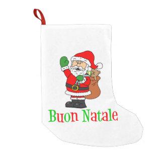 Meia De Natal Pequena Meia italiana do Natal de Buon Natale