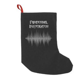 Meia De Natal Pequena Meia Paranormal do Natal do investigador