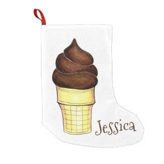 Meia De Natal Pequena Meia personalizada do cone do sorvete do chocolate