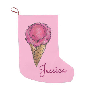 Meia De Natal Pequena Meia personalizada do feriado do sorvete cone