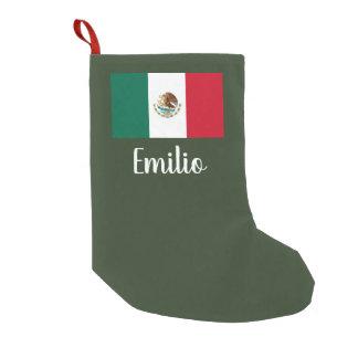 Meia De Natal Pequena Meia personalizada do Natal da bandeira mexicana
