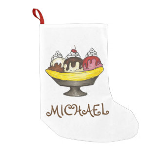 Meia De Natal Pequena Meia personalizada do Xmas do sorvete da separação
