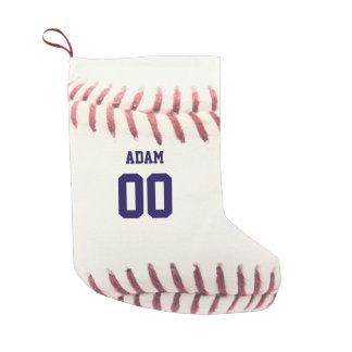 Meia De Natal Pequena Meia personalizada textura do basebol