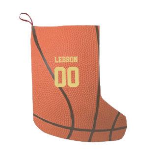 Meia De Natal Pequena Meia personalizada textura do basquetebol