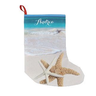 Meia De Natal Pequena Meia tropical da estrela do mar da praia do Natal