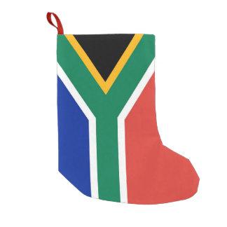 Meia De Natal Pequena Meias do Natal com a bandeira de África do Sul