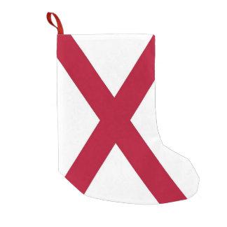 Meia De Natal Pequena Meias do Natal com a bandeira de Alabama, EUA