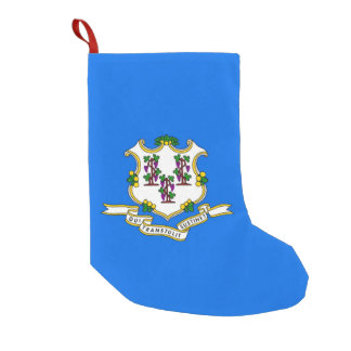 Meia De Natal Pequena Meias do Natal com a bandeira de Connecticut, EUA