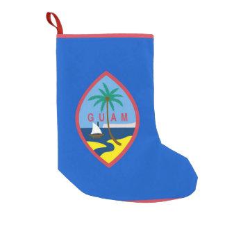 Meia De Natal Pequena Meias do Natal com a bandeira de Guam, EUA