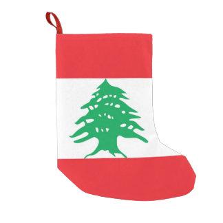 Meia De Natal Pequena Meias do Natal com a bandeira de Líbano
